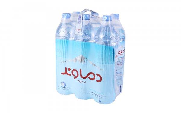 آب آشامیدنی دماوند مقدار  1.5 لیتر