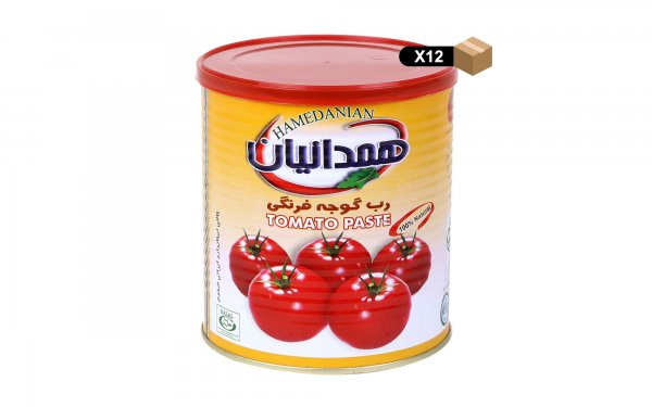 رب گوجهفرنگی کلیددار همدانیان مقدار 800 گرم - بسته 12 عددی