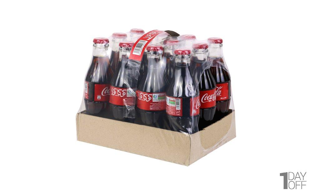 نوشابه شیشهای 12 عددی کوکاکولا مقدار 250 میلیلیتر